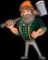 Log Dog/ Log Rest Kit (1 dog, 1 reset, bar, & receivers)