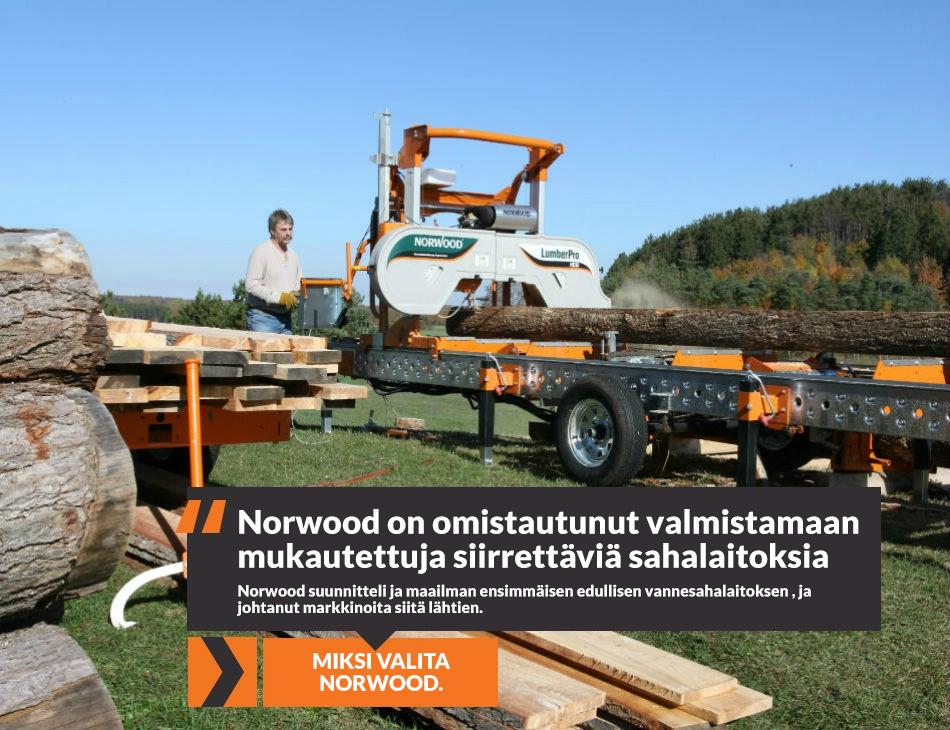 Norwood on omistautunut valmistamaan mukautettuja siirrettavia sahalaitoksia